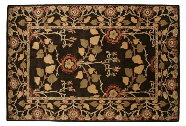 Ann Rug, Deep Olive/Cream