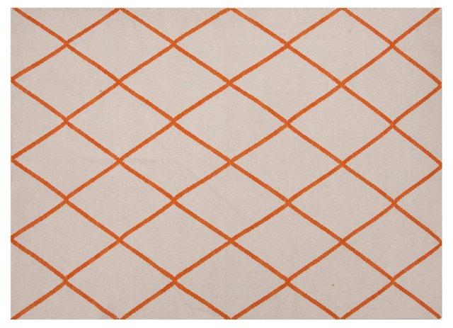 Lomita Rug, Ivory/Orange