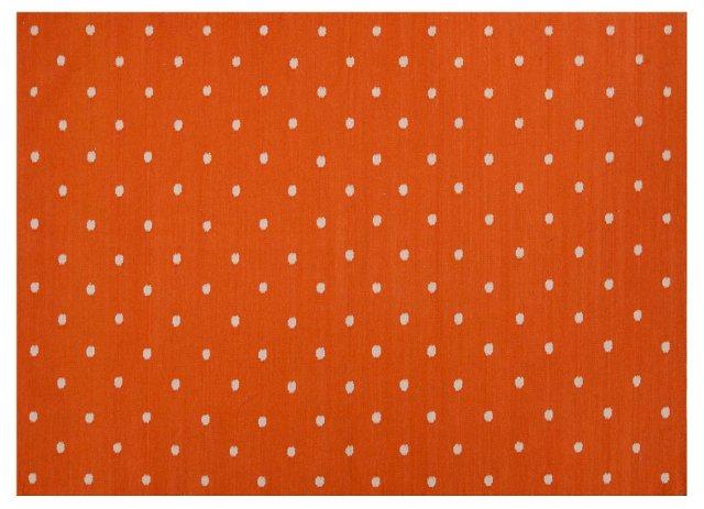 Santee Flat-Weave Rug, Orange