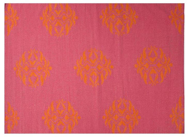 5'x8' Cajon Rug, Fuchsia/Orange