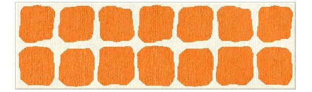 "2'6""x8' Mesa Flat-Weave Runner, Orange"