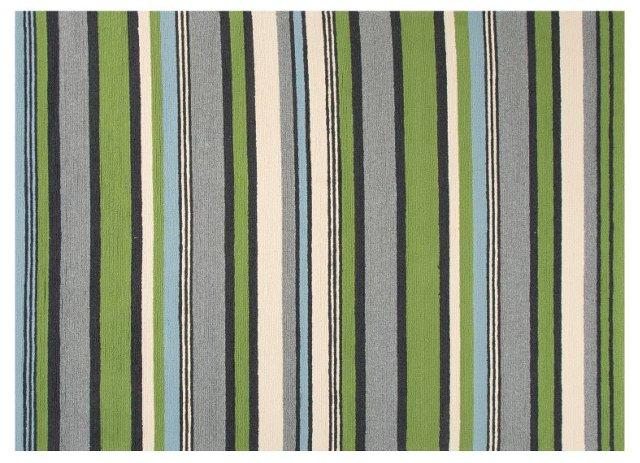 Chatam Outdoor Rug, Green/Gray