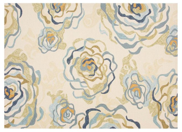 Marsh Outdoor Rug, Ivory/Multi