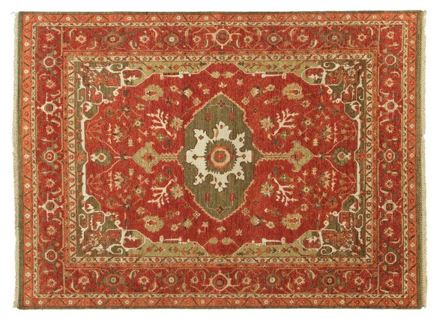 2' x 3' Kooper Rug, Red/Oregano