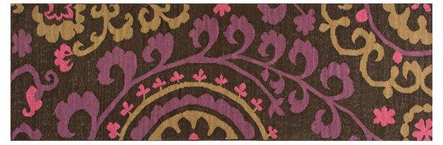 "2'6""x8' Cresta Flat-Weave Runner, Purple"