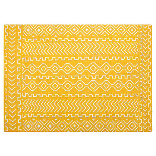 Solona Flat-Weave Rug, Marigold