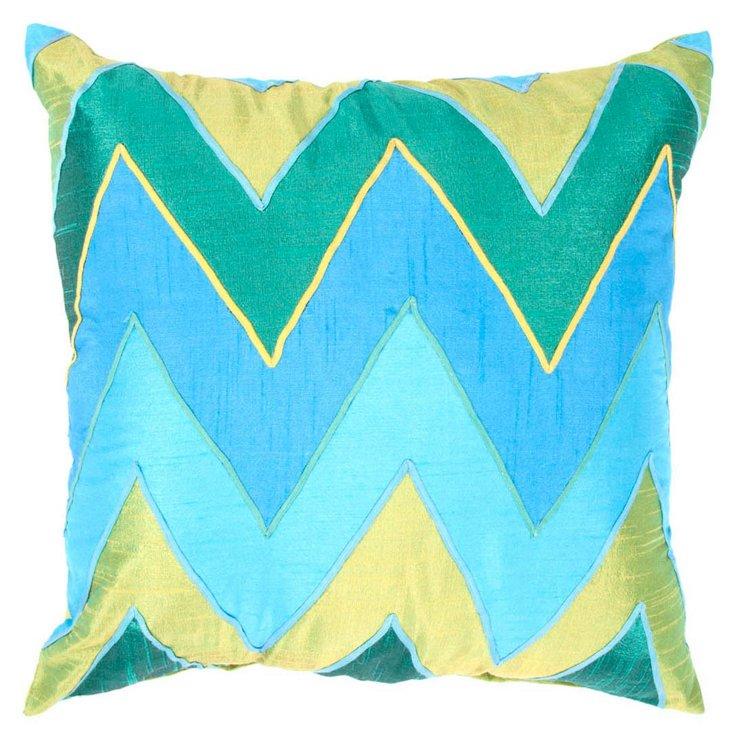 Zigzag 18x18 Pillow, Green