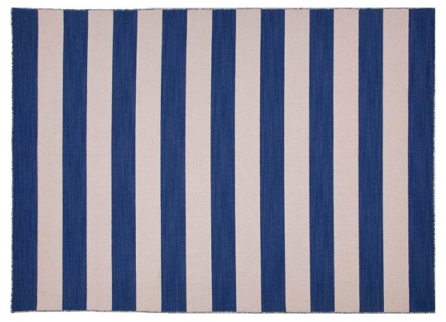Gannet Flat-Weave Rug, Blue