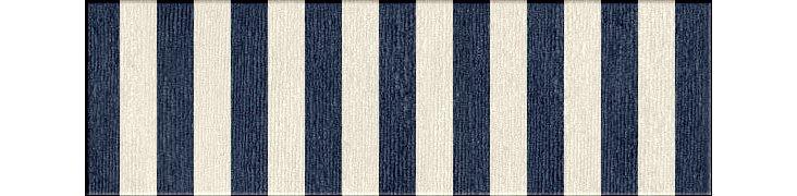 "2'6""x8' Gannet Flat-Weave Runner, Blue"