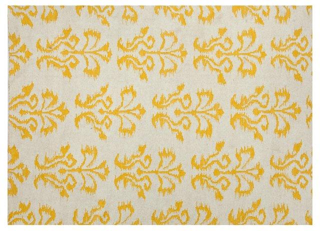 2'x3' Theo Flat-Weave Rug, Yellow