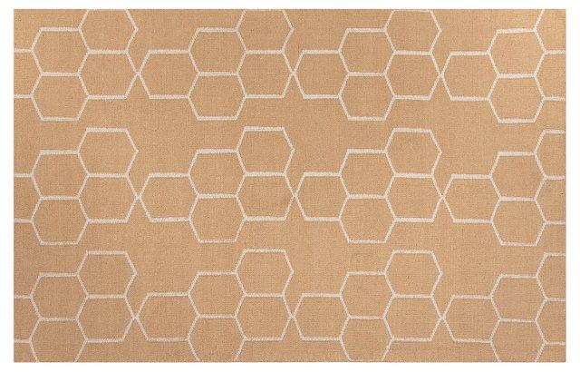 Dane Flat-Weave Rug, Taupe