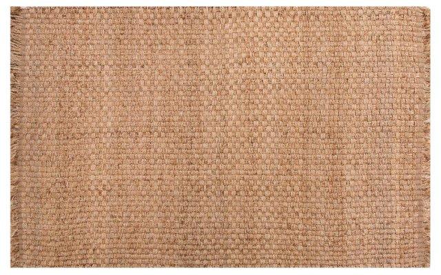 Split Flat-Weave Hemp Rug, Tan