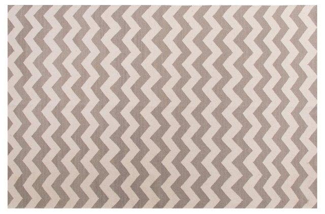 Mau Flat-Weave Rug, Gray