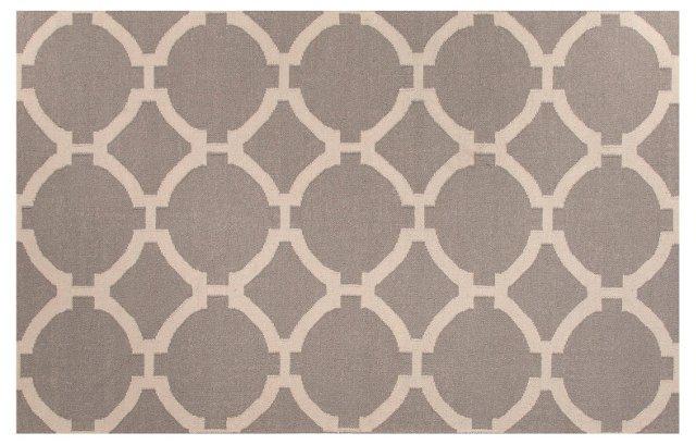 Empire Flat-Weave Rug, Gray