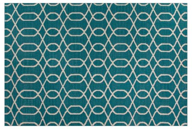 Tanya Flat-Weave Rug, Blue