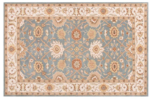 Canton Rug, Blue/Ivory