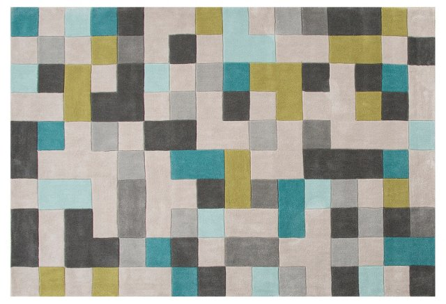 Fawn Rug, Gray/Blue