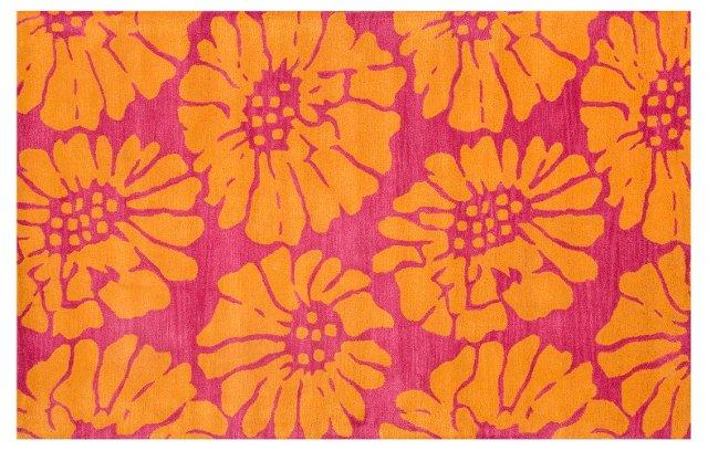 Joey Rug, Pink/Orange