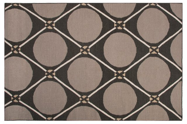 North Flat-Weave Rug, Gray