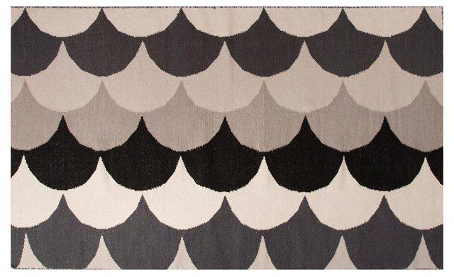 Cyclon Flat-Weave Rug, Beige