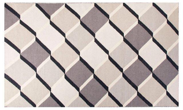 Lonna Flat-Weave Rug, Ivory