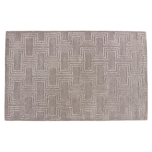 Ashby Rug, Gray/Silver