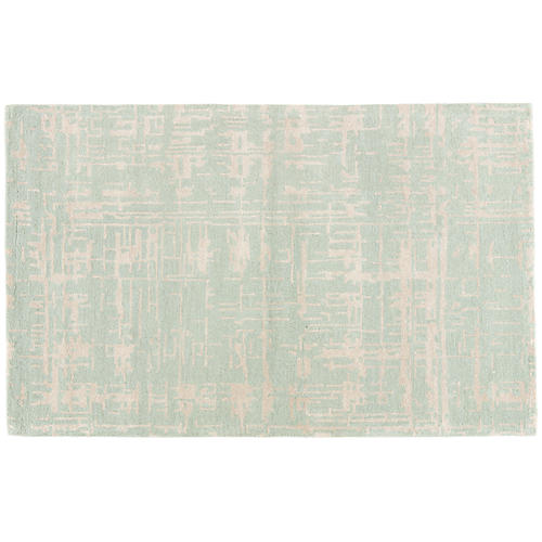Seaforth Rug, Aqua/Birch