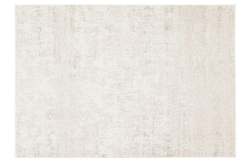 Himani Rug, Silver/White