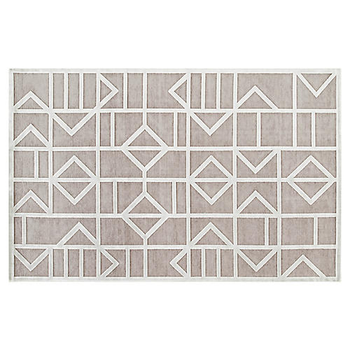 Sater Rug, Gray/White