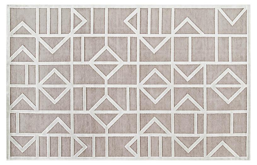 Sater Rug, Gray/White