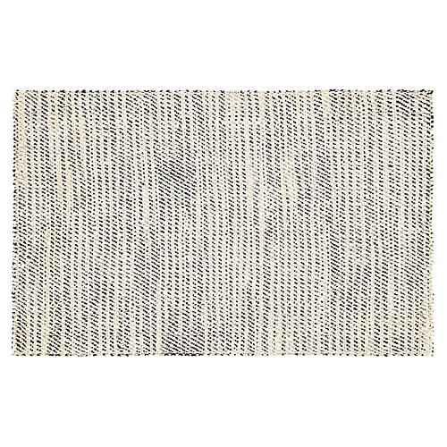 Latimer Jute Rug, White/Black