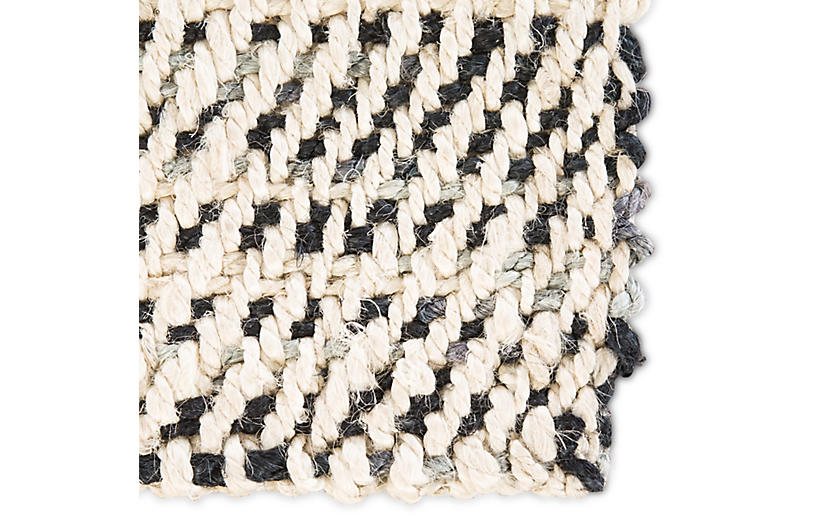 Latimer Jute Rug White Black One Kings Lane