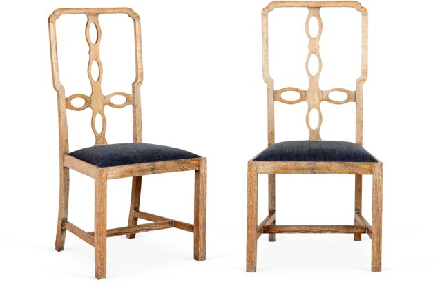 Cross-Back Chairs, Pair