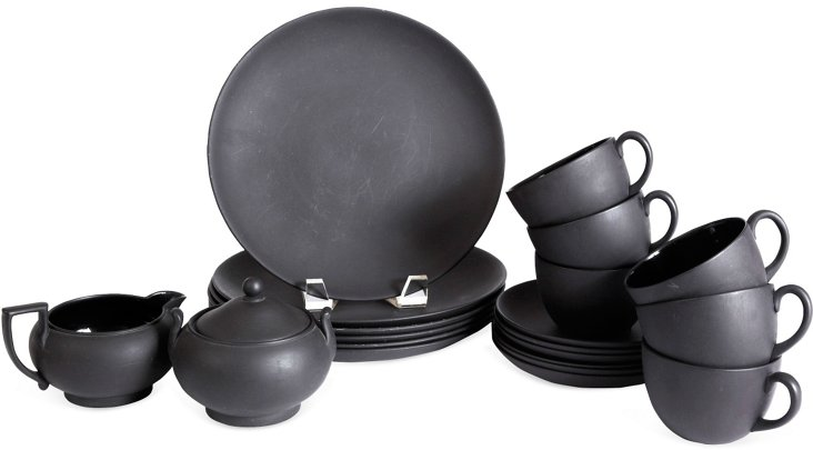 Jasperware Tea Set, Service for 6