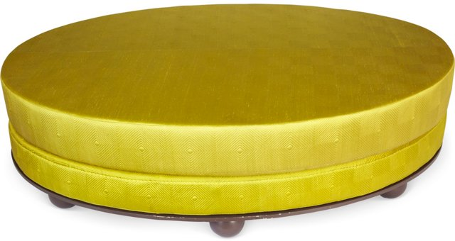 Oval Chartreuse Bed, Queen