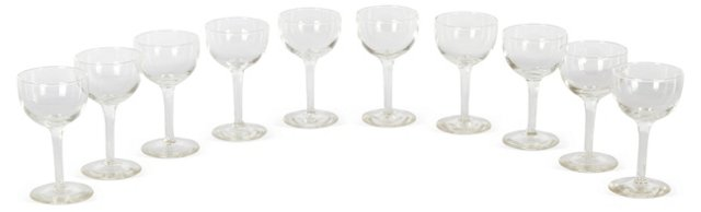 Cordial Glasses, Set of 10