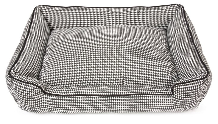 Houndstooth Lounge Bed, Black/White
