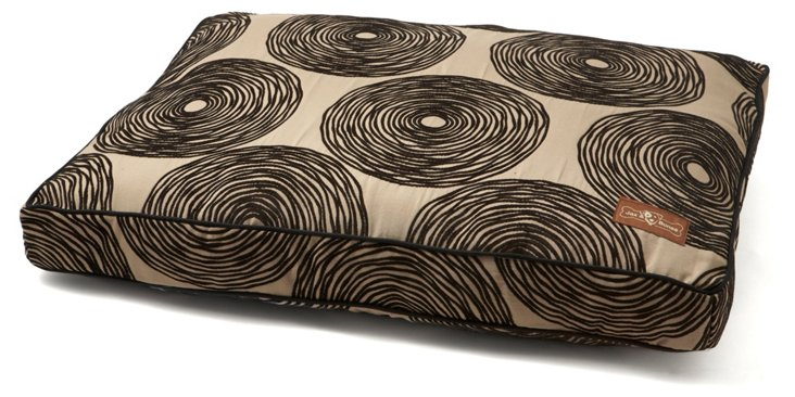 Coil Rectangle Pillow Bed, Black/Silver