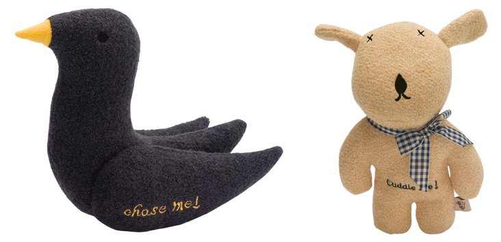 Bird and Bear Wool Toys