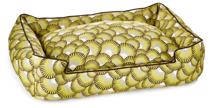 Petal Lounge Bed, Chartreuse