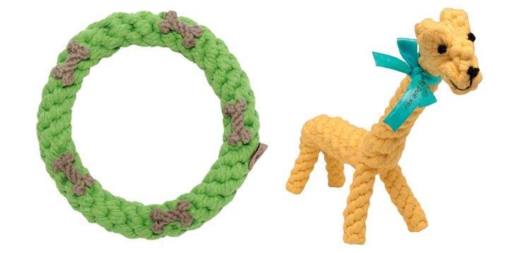 Giraffe & Lime Ring Rope Toys