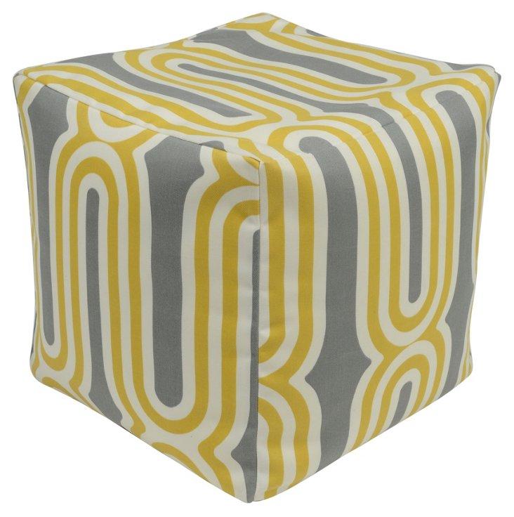 Kate Pouf, Yellow/Gray