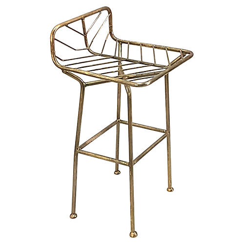 Jani Counter Stool, Antiqued Brass