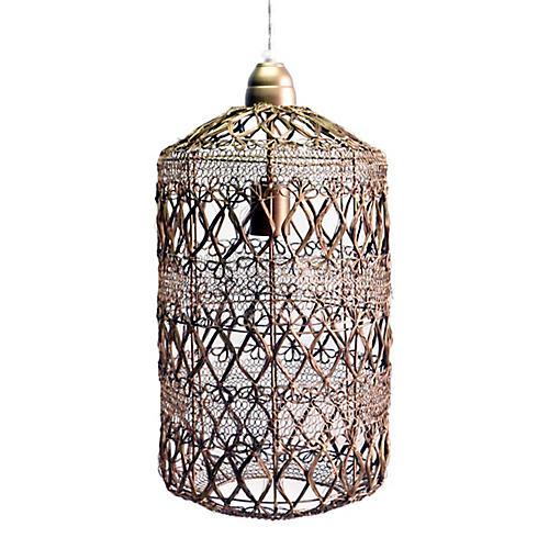 Vela Pendant, Antiqued Brass