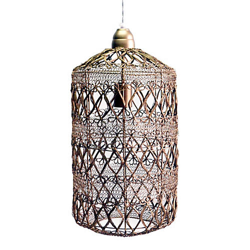 Vela Pendant, Antiqued Brass