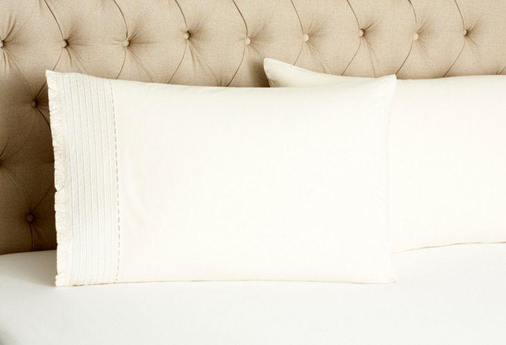 S/2 Pinefore Pillowcases, Cream