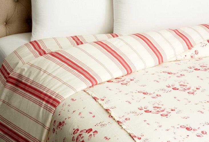 Sarah Duvet, Cream/Red