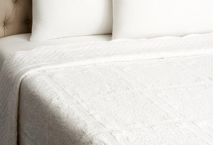 Mackinac Shore Quilt, White