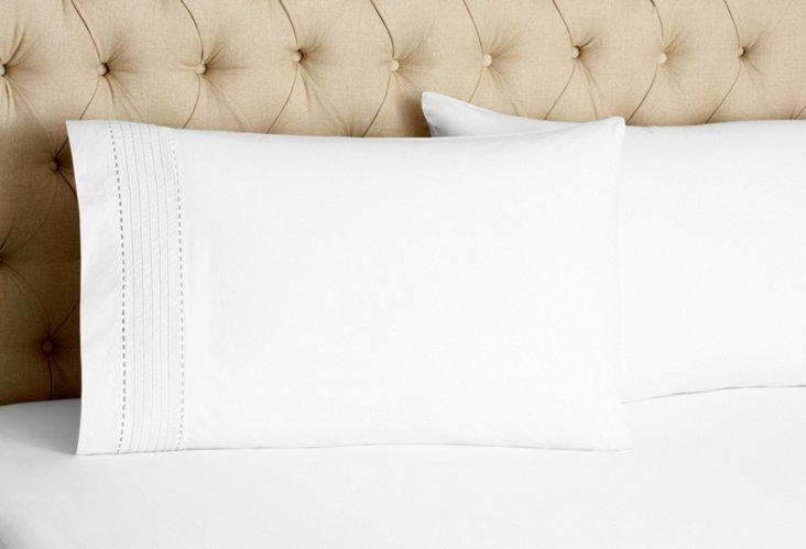S/2 Pinefore Pillowcases, White