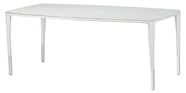 "Slim-Line 78"" Dining Table, White"